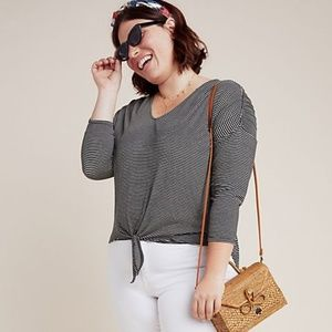 NWT Anthropologie Bordeaux Hadley Tied Top